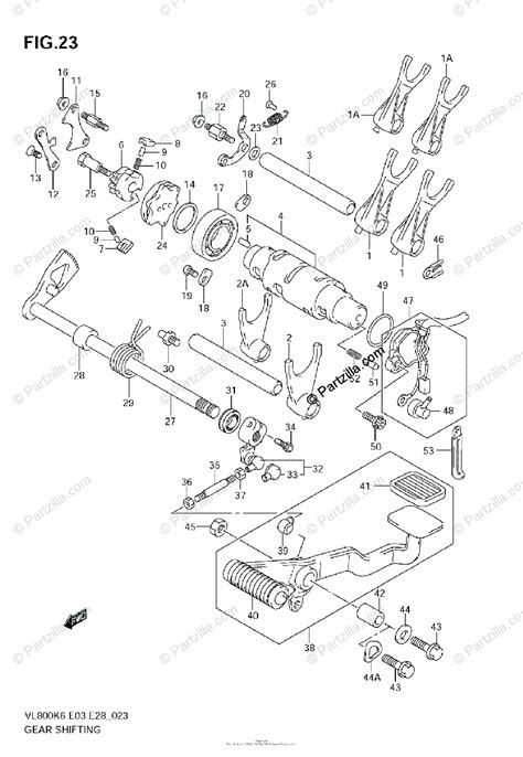 suzuki motorcycle  oem parts diagram  gear shifting