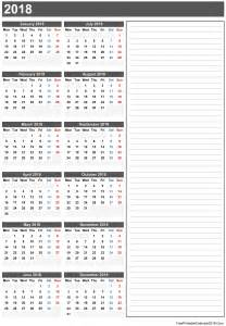 Free Printable Calendars Yearly 2018 Com