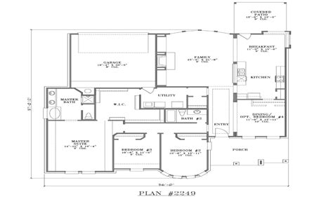 house plans  rear garage simple small house floor plans rear entry garage house plans