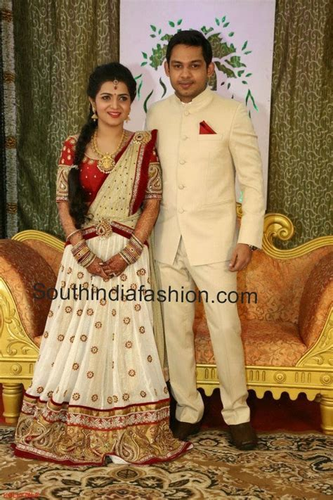 Anchor Divyadarshini Wedding Reception ? South India Fashion