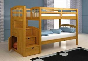 plans bunk beds with stairs Quick Woodworking Projects