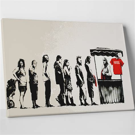 banksy for sale canada irony for sale 20 quot w x 16 quot h x 0 75 quot d banksy touch of