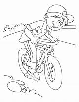 Coloring Pages Bicycle sketch template