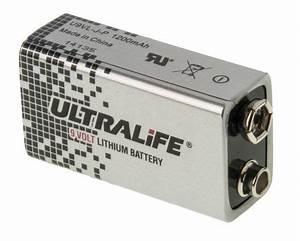 39170005   Ultralife Lithium Manganese Dioxide 9V Battery ...