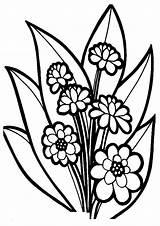 Coloring Flower Bouquet Fancy Colorluna sketch template