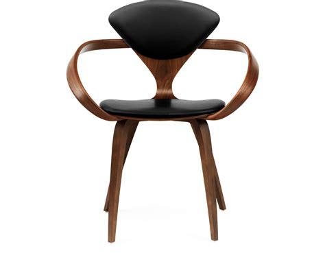 norman cherner office task cherner arm chair with upholstered seat back