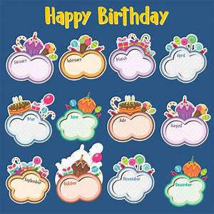 7 Best Images Of Printable For Classroom Birthday Charts