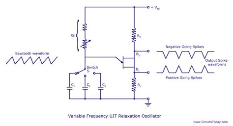 Ujt Relaxation Oscillator Circuit Diagram Theory