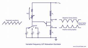 Ujt Relaxation Oscillator  Circuit Diagram  Ujt Theory And