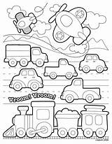 Transportation Coloring Pages Printable Toddlers Preschool Transport Land Vehicles Template Colouring Train Sheets Worksheets Modes Cute Activities Kindergarten Printables Activity sketch template