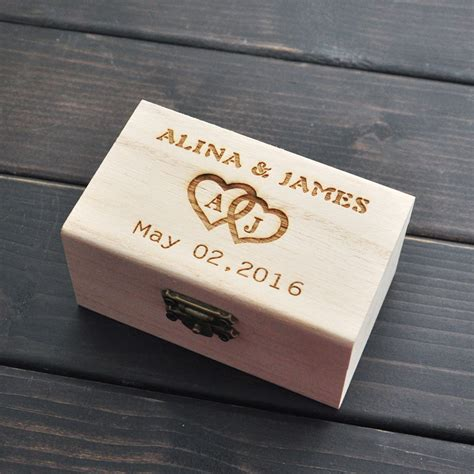 rustic wedding ring bearer box personalized wedding ring