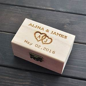 rustic wedding ring bearer box personalized wedding ring With custom wedding ring box