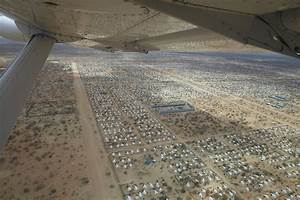 An aerial view of the world's largest refugee camp, Dadaab ...