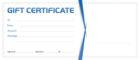 gift certificate blank template  blank gift