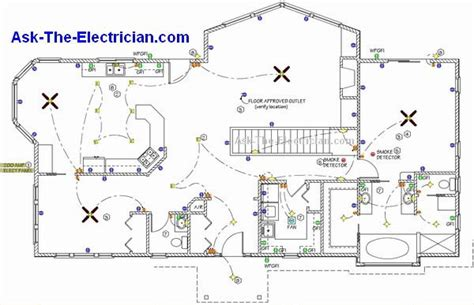 House Wiring Plan by Home Electrical Wiring Diagram Blueprint Our Cabin In