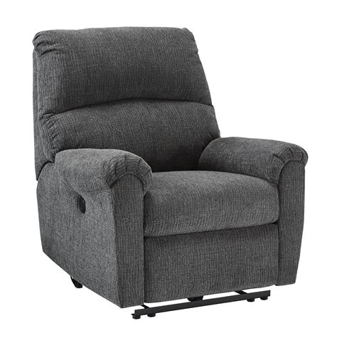Power Recliner Deals by Furniture Mcteer Charcoal Power Recliner The