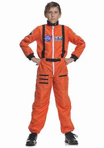 Boys Orange Space Astronaut Costume - Child NASA Astronaut ...