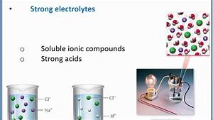 Chemistry 101 - Electrolyte And Nonelectrolyte Solutions