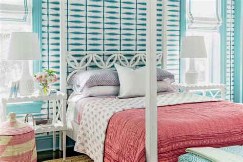 Tie-dye Turquoise-beautiful Blue Bedrooms-southern Living