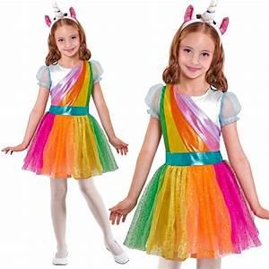 Einhorn Kostüm Mädchen : einhorn kleid mit haarreif kinder kost m gr e 158 karneval fasching 7568 ebay ~ Frokenaadalensverden.com Haus und Dekorationen