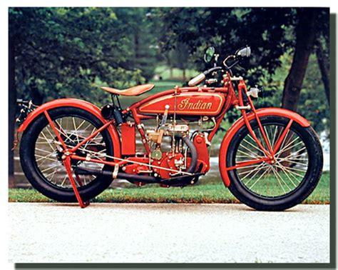 Vintage Indian Motorcycle Poster