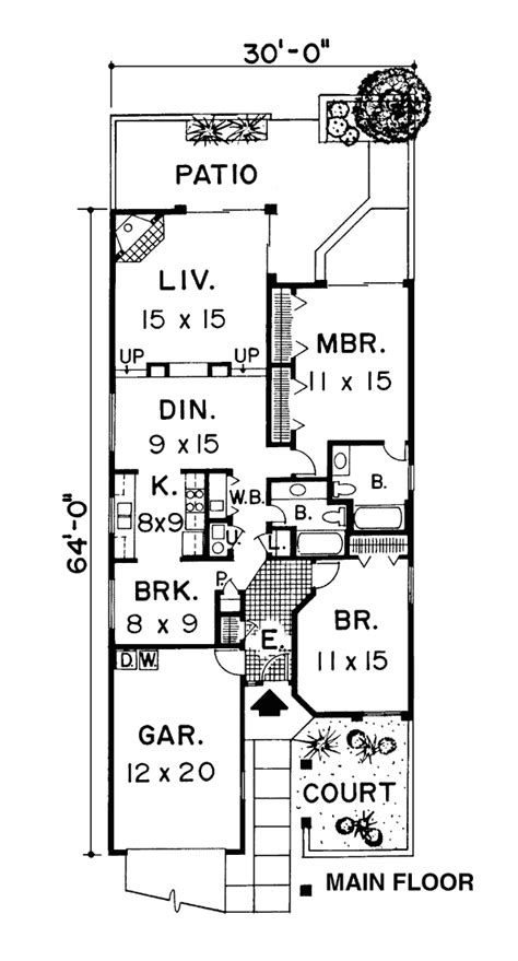 house plans narrow lot house plans for narrow lots nz cottage house plans
