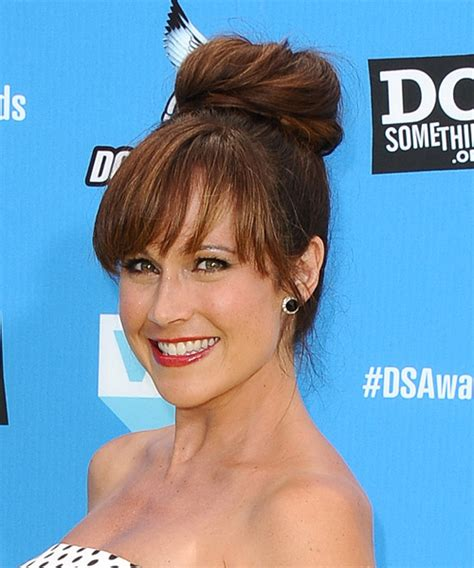 nikki deloach formal long straight updo hairstyle
