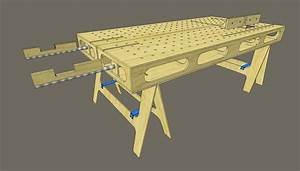 Woodworking Bench Plans Sketchup Workbench plans made with