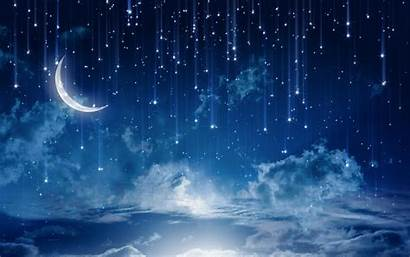 Night Stars Fantasy Rain Desktop Wallpapers Backgrounds