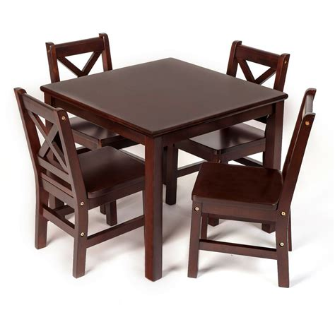 Table And Chair Set by Table And Chair Set 5 Pcs Solid Wood In