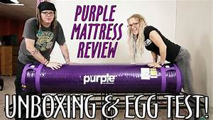 purple mattress unboxing review egg test what With egg test mattress