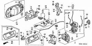 Genuine Honda Lock Assembly  R Front Door Power 72110