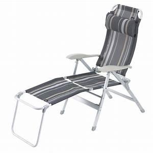 Fauteuil Repose Pied : fauteuil de camping repose pied pour fauteuil en alu raye trigano ~ Teatrodelosmanantiales.com Idées de Décoration