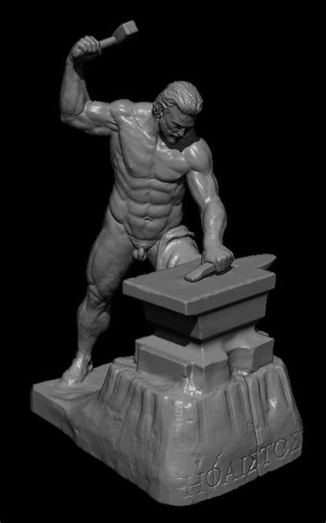 hephaestus greek god  model  printable obj cgtradercom