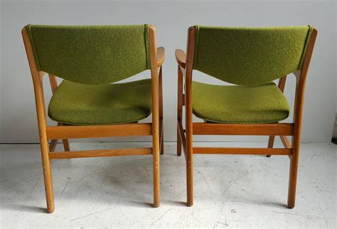 classic mid century modern armchairs manufactured by w h