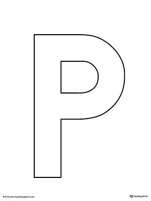 uppercase letter p template printable myteachingstationcom