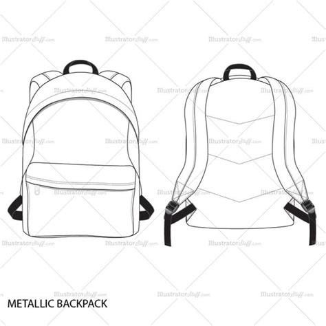 backpack template metallic backpack fashion flat template templates for fashion