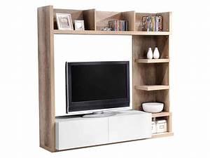 Meuble Tv Avec Etagere : meuble etagere tv meuble hifi blanc maisonjoffrois ~ Teatrodelosmanantiales.com Idées de Décoration