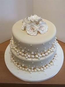 pearl anniversary cake - Cake by Danielle - CakesDecor