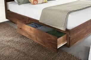 wood storage bed design ideas