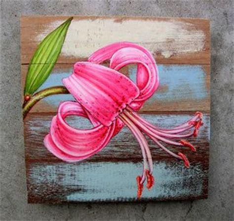 beschilderde houten panelen met bloemen 25 best ideas about pallet schilderij op pinterest