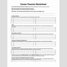 Career Passion Worksheet Worksheet For 5th  10th Grade  Lesson Planet