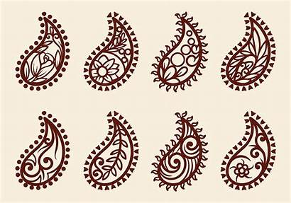 Cashmere Vector Drawn Hand Paisley Pattern Clipart