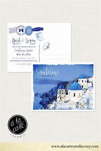 Destination wedding invitation santorini greece greek for European destination wedding invitations