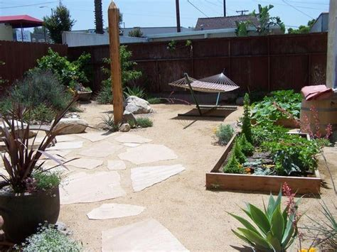 flagstone set in decomposed granite raised planter beds