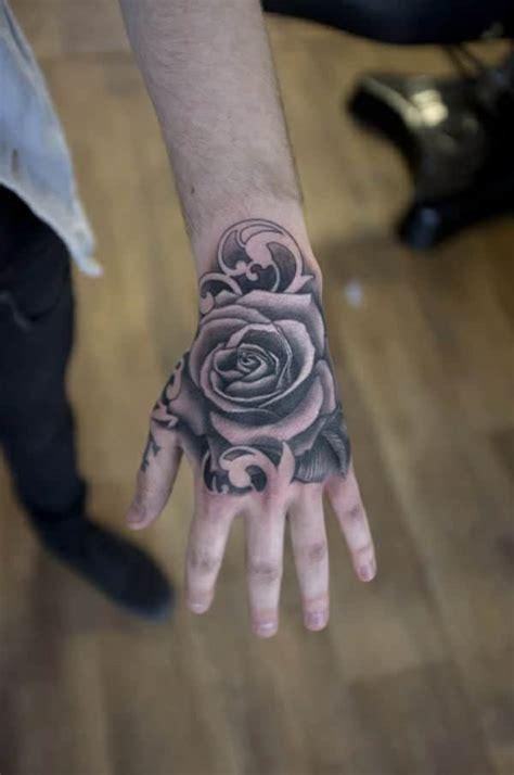 Black Hand Tattoo Design