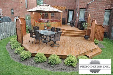 patio avec spa decoration en  pinterest idee