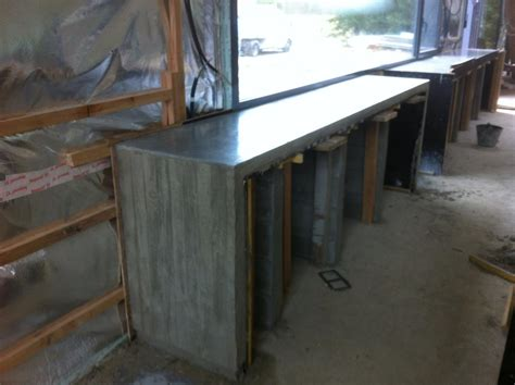 construire un ilot de cuisine mobilier béton