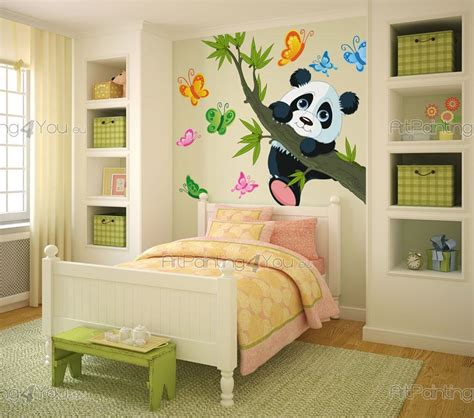chambre panda stickers muraux chambre bébé ours panda artpainting4you