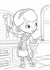 Coloring Doc Mcstuffins Pages Hospital Toy sketch template